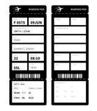 Svart boardingcard Arkivfoto