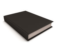 Svart bok på vit royaltyfri illustrationer
