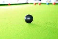 Svart boll, snookerspelare Royaltyfria Bilder