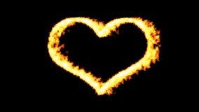 svart brännhet hjärta för bakgrund lager videofilmer