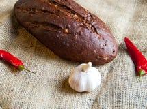 Svart bröd Fotografering för Bildbyråer