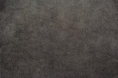 Svart brun lädertexturbakgrund Arkivfoto
