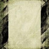 svart brunt papper för ramgrungelampa Royaltyfri Foto