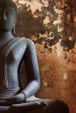 Svart Buddha staty Royaltyfri Bild