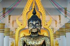 Svart buddha staty Royaltyfri Fotografi
