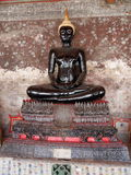 svart buddha staty Arkivbild