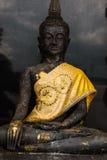 svart buddha staty fotografering för bildbyråer
