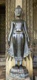 Svart Buddha statyer Royaltyfri Foto
