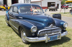 1947 svart Buick åtta bil Arkivfoto