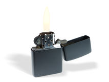 svart burning lighter Arkivbilder