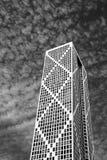 svart byggnadswhite Royaltyfri Foto