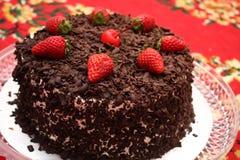 svart cakeskog Arkivbild