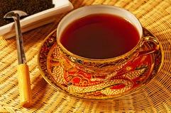 svart ceylon tea royaltyfri bild
