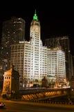 svart chicago natt Arkivbild