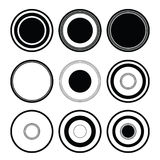 svart cirkel Royaltyfri Foto