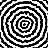 Svart cirkelmodell som är användbar som abstrakt solid vibration Newtonian vätska också vektor för coreldrawillustration Royaltyfri Fotografi