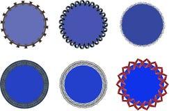 Svart cirkelstämpel royaltyfria bilder