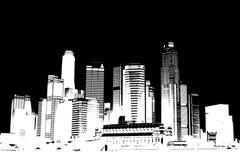svart cityscapewhite Royaltyfria Bilder