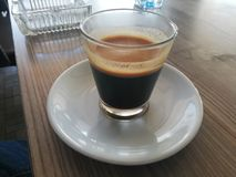 svart coffe royaltyfri fotografi