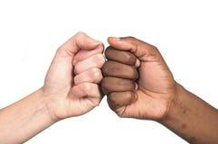 svart conflictwhite arkivbild