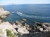 svart crimea hav fotografering för bildbyråer