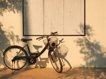 Svart cykel Arkivfoto