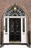Svart dörr Royaltyfri Fotografi