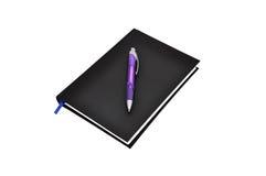 svart dagbok Royaltyfri Bild
