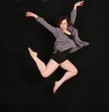 svart dansarekvinna för bakgrund Royaltyfria Bilder