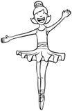 svart dansarewhite för ballerina Arkivbilder