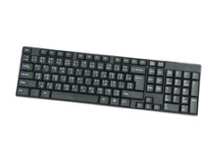 Svart dator för tangentbordtangenter på vit backgrond Royaltyfria Foton