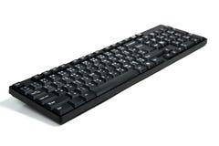 Svart dator för tangentbordtangenter på vit backgrond Royaltyfri Bild