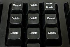 """Svart datortangentbord, ord """"borttagnings"""", arkivfoto"""