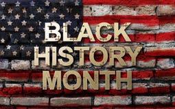 Svart design för bakgrund för månad för historia för historiemånadafrikansk amerikan för beröm och erkännande i månaden av Februa vektor illustrationer