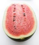 Svart despotkonung Super Sweet Watermelon på vit bakgrund Royaltyfri Fotografi