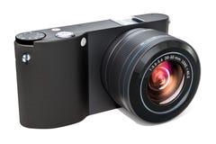 Svart digital kamera, mirrorless utbytbar-Lens kamera 3d Royaltyfria Bilder