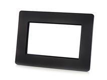 Svart digital LCD-fotoram med stället för ditt foto. Royaltyfria Bilder