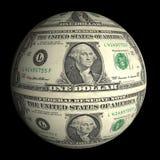 svart dollarplanet för bakgrund Royaltyfria Foton