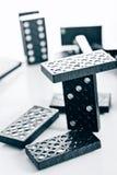 svart domino Royaltyfri Foto