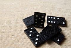 svart domino Arkivfoto