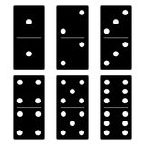 svart dominoset Arkivbilder