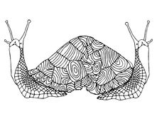 Dubbel snail royaltyfri illustrationer