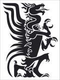svart drake Royaltyfri Foto
