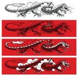 svart drake Arkivbild