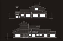 svart drawwhite vektor illustrationer