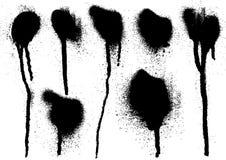 svart droppandespray Arkivfoto