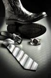 svart elegant läderstil Arkivfoton