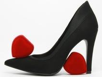 Svart elegant sko Royaltyfria Foton