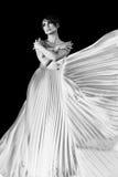 svart elegantt kvinnabarn arkivbild