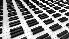 svart elfenben keys pianowhite Royaltyfri Foto